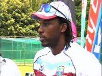 West Indies practice ahead of their match against Australia