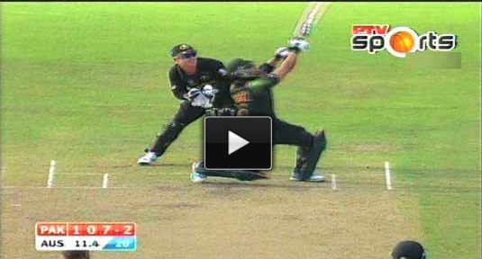 Umar Akmal, Afridi Blitz help Pakistan down Australia in WT20