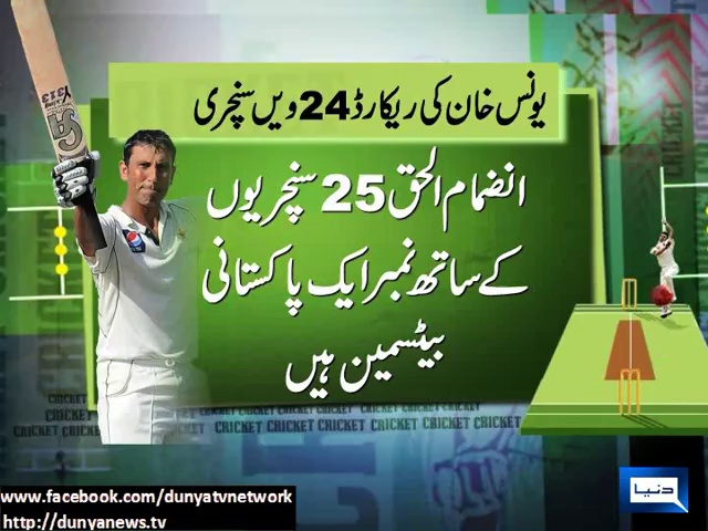 Galle Test: Younis Khan scores 24th century