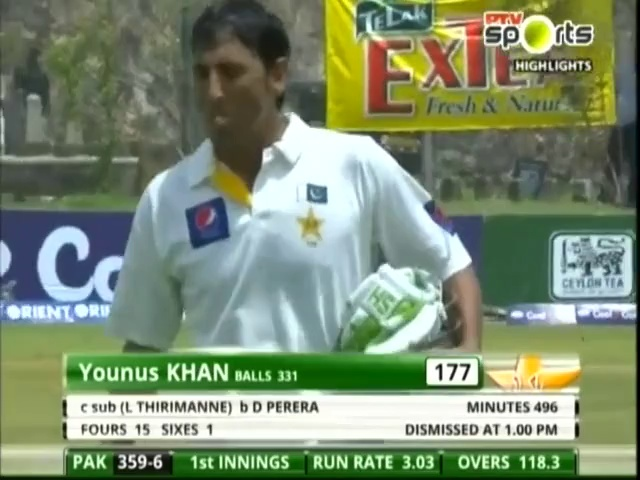 Younis Khan Best Batting against Sri Lanka, 177 in Test Match