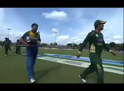 Caught on camera: Ahmed Shahzad and Dilshan religious talk