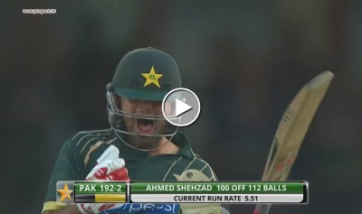 Ahmed Shehzad scores a magnificent century 113 runs against NZ