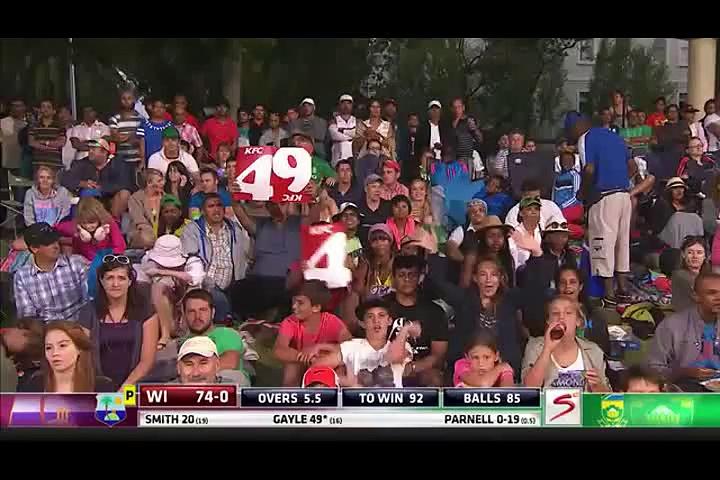 Chris Gayle fastest fifty, scoring 77 runs off 31 balls