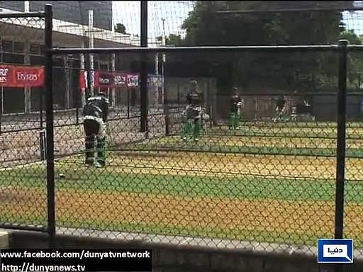 Pak-India players practice for World Cup match