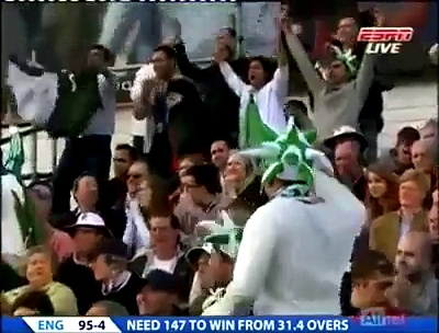 Umar Gul best bowling figures of 6 wickets win the game for Pakistan