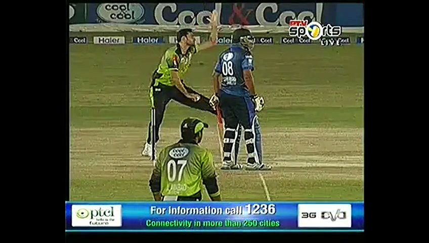 Ball hit on Umar Gul's Nose in Haier T20 Cup 2015