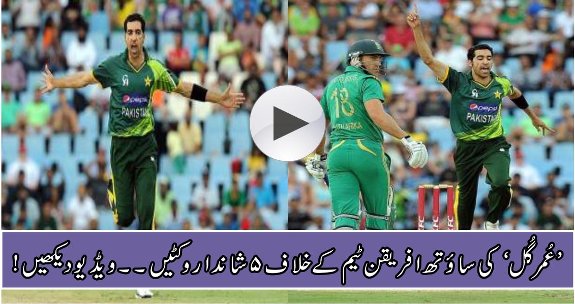 Umar Gul takes 5 amazing wickets to demolish South african batting