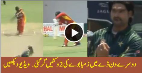 First Two Wickets of Zimbabwe – 2nd ODI Pak vs Zim