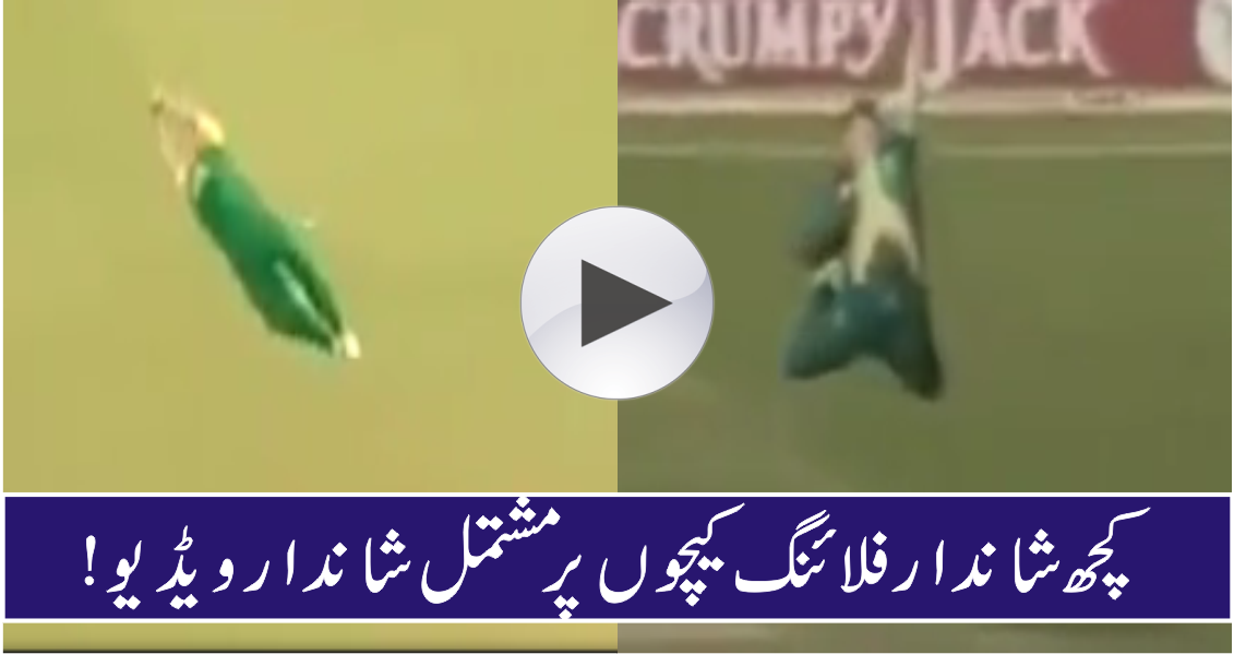 Compilation of great flying catches from classic time of cricket