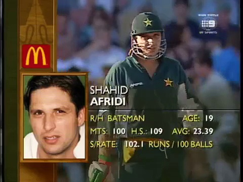 Shahid Afridi's cool reply to Glenn McGrath-smashed 2 fours after hitting in head