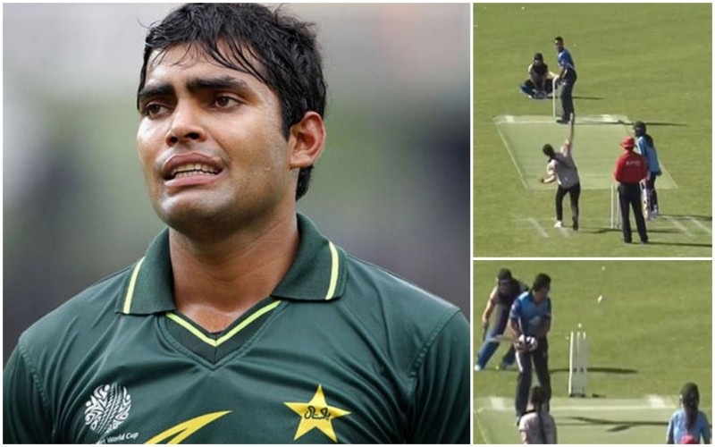 Umar Akmal bowled by a Girl in Norway