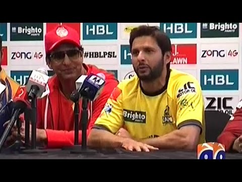 Pakistan Super League Captain's Press Conference & PSL Trophy Unveiled